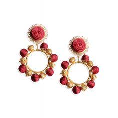 Dolce & Gabbana Beaded Hoop Earrings