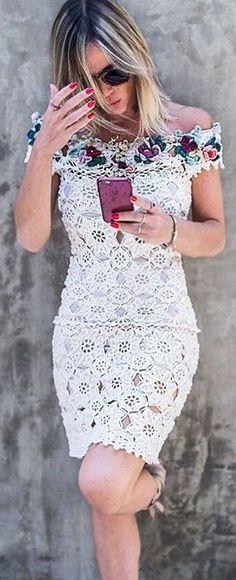 crochet dress by Vnessa Montoro