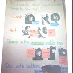 Here is a Character study anchor chart. T C