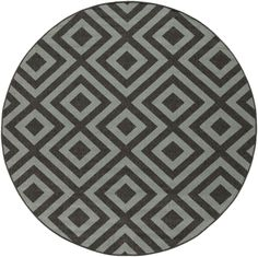 For dining room -- Surya Alfresco Black/Gray Geometric Area Rug   AllModern   $75