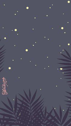 Simple Night Cute Moon iPhone Home Wallpaper @PanPins