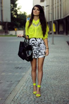I love this outfit, especially since I love bright yellow!