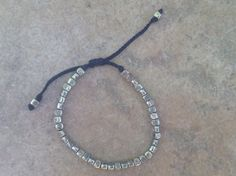 Bracelet With Sterling Silver Engraved Beads by Stage8byGaryGordin, $156.00