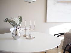 Tikkurila Ajopuu / Ton Chair / Georg Jensen Cafu, antique chandelier /