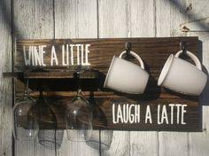 Reclaimed Pallet Wood Wine Glass & Coffee Mug by VintageBEAUTY0206