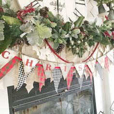 I've had so many questions about my mantel garland so I wanted to show you some closeups. . . . I took last year's greens and gave them a refresh by adding dusty millers, magnolia branches and giant jingle bells. Add layers by using banners and garland along with your greens! You can make something inexpensive look like a million bucks!! #diychristmas #diyhomedecor #farmhouse #farmhousechristmas #farmhouse #christmasdecorations #countrysampler #countrylivingmag #betterhomesandgardens…