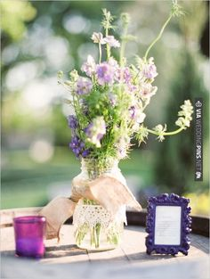 burlap and lace decoration ideas | CHECK OUT MORE IDEAS AT WEDDINGPINS.NET | #wedding