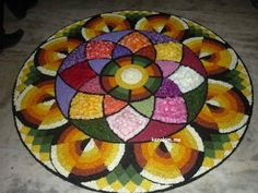 Rangoli Designs Flower, Flower Rangoli, Onam Pookalam Design, Onam Festival, Outline Images, Kerala Tourism, Christmas Tree, Holiday Decor