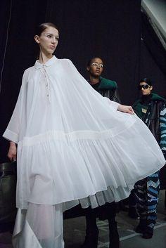 Kenzo AW15, Dazed backstage, Womenswear, Paris - DELIGHTFUL dress/white shirt !!!!!!!!!!!!!!!