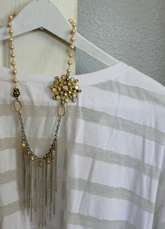 Vintage AB Rhinestones, Glass Pearls and a little Contemporary Style...~