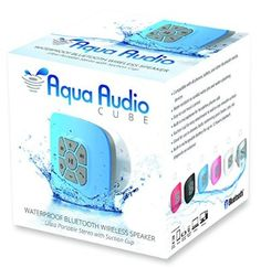 Images Photos The AquaAudio Cubo Waterproof Bluetooth Wireless Speaker with Strong Suction Cup for Showers Bathroom Pool Boat Car Beach Outdoor etc