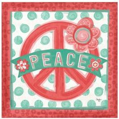Peace by Eazl Canvas Poster, Size: 16 x 16, Multicolor