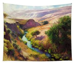 The Pataha, wall art tapestry from Steve Henderson Collections, adding the beauty of the country wilderness canyon to your home and life.  #tapestry #country #canyon #wallart #wilderness