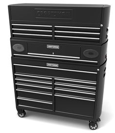 Bluetooth tool cabinet with speakers! Certainly would make time spent in the garage go by a little easier.