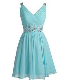 Fashion Plaza Short Straps Bridesmaid Dresses Pleated Beading Belt Prom Dress D0324 (US2, Light Blue) Fashion Plaza http://www.amazon.com/dp/B016U2SADA/ref=cm_sw_r_pi_dp_Eyaswb02RPVTA