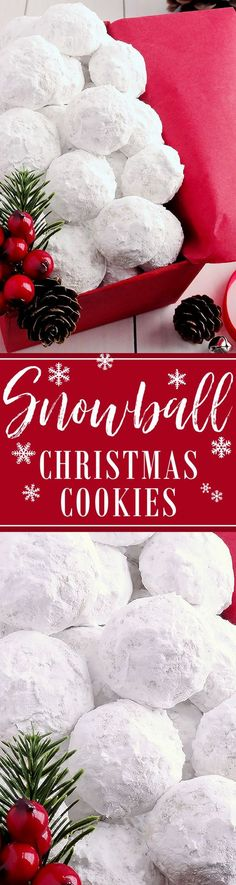Snowball Christmas Cookies ~ Simply the BEST! Buttery, never dry, with plenty of walnuts for a scrumptious melt-in-your-mouth shortbread cookie (also known as Russian Teacakes or Mexican Wedding Cookies). Everyone will LOVE these classic Christmas cookies! Le Jardin Weddings | Utah Wedding and Reception Center | Sandy | Salt Lake City | Winter Wedding | Christmas | Holidays #holidaywedding #christmaswedding #winterwedding #lejardinweddings