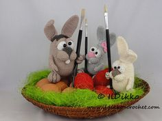 Easter Bunnies Amigurumi Crochet Pattern от IlDikko на Etsy