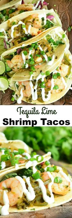 Tequila Lime Shrimp Tacos. Fantastic, light shrimp tacos made in simply and in about 30 minutes.  from www.willcookforsmiles.com #taco #seafood: