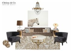 Client Conceptual: Design By Chrissy & Co Design Savvy. Large art, chandelier, marble and brass occasional table and area rug. Co Design, Design Concepts, Large Art, Area Rugs, Interior Decorating, Chandelier, Conceptual Design, Living Rooms, Table