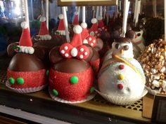 Holiday Caramel Apples at Disneyland.