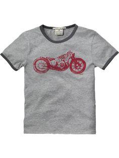 Tattoo' ringer tee - T-shirts - Scotch & Soda Online Shop
