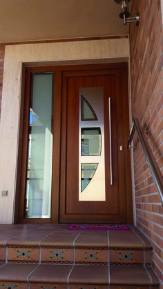 """Unique 50 Modern And Classic Wooden Main Door Design Ideas A door is a hinged or mobile barrier that allows entry and exit to an """"enclosure"""". Wooden Front Door Design, Main Entrance Door Design, Wooden Doors, Modern Exterior Doors, House Gate Design, Door Design Interior, House Doors, Panel, Bella"""