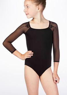 Maillot con mangas de gasa Evegina Bloch* Gymnastics Wear, Bikinis, Swimsuits, Pole Dance, Dance Wear, Ballet Dance, Bodysuit, Spandex, Poses