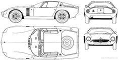 Alfa Romeo 1600 GTZ Bertone blueprints