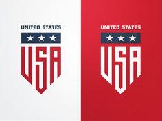 USA Badge Logo Style