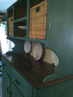 Hutch redo - love the bold choice of color!
