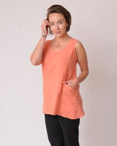 Pair the Trapeze Tunic Top ($97) with leggings, pants or a skirt to enjoy unencumbered movement and style. Fitted through the bust, it flows to a trapeze shape at the uneven hem. Ethical Clothing, Ethical Fashion, Slow Fashion, Travel Clothing, Women's Clothing, Dressy Casual Women, Casual Attire, Smart Casual, Casual Outfits