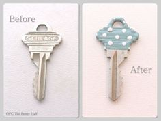 Personalized Keys with Nail Polih- OPC The Better Half