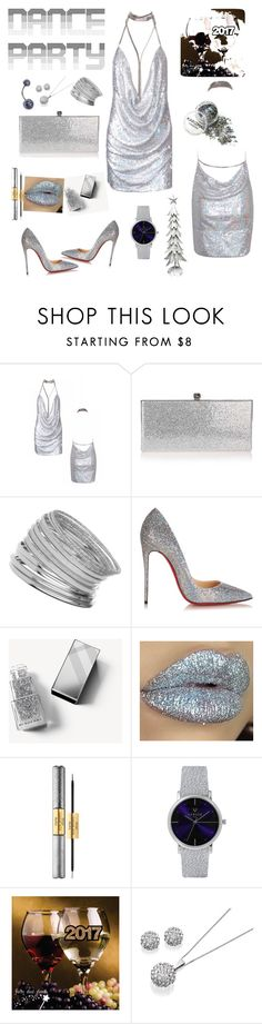"""Untitled #234"" by mink-nppbv ❤ liked on Polyvore featuring Jimmy Choo, Miss Selfridge, Christian Louboutin, Burberry, tarte and Laruze"