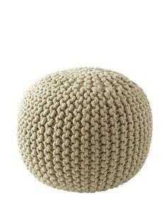 Knitted Pouffe, http://www.isme.com/sabichi-knitted-pouffe/1218968628.prd