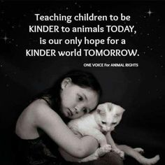 teach children to be kind to animals