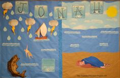 Jonah Bulletin Board with free printables