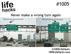 never make a wrong turn again. CLEVER. 1000 Life Hacks