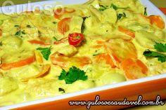 #BomDia! Quer um #almoço incrementado e econômico? A sugestão é este Fricassé de Frango Light, é delicioso e muito simples!  #Receita aqui: http://www.gulosoesaudavel.com.br/2013/06/04/fricasse-frango-light/