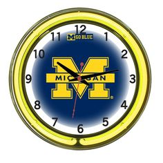 Michigan Neon Clock, $219.00