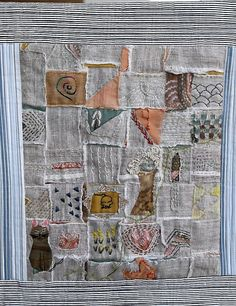 love the cutouts to fabrics beneath.   Neighborhood Whimsy by Karen littlebirdiequilting.com