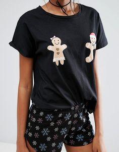 ASOS Tall | ASOS TALL Christmas Gingerbread Man Tee & Short Pyjama Set