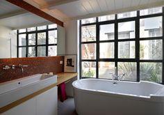 Fabio Azzolina architect - Loft - via Maiocchi - Milano mosaic bathroom with windows