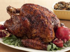 Black Pepper-Pomegranate Molasses Glazed Turkey from FoodNetwork.com