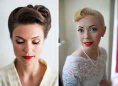 1950s Rockabilly bridal makeup