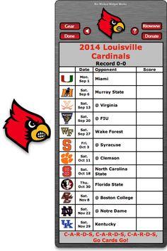 Free 2014 Louisville Cardinals Football Schedule Widget for Mac OS X - Go Cards Go! -  http://riowww.com/teamPages/Louisville_Cardinals.htm