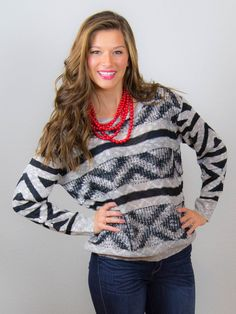 7d406acea4 This Is How We Roll Red Beaded Necklace. www.Dazylu.com.  FREESHIPPING   boutique  fall fashion  sweater  cardigan  tunic  stripes  vest  fur   pants  scarf ...