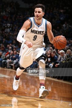 0526ea289 Ricky Rubio of the Minnesota Timberwolves handles the ball during a.