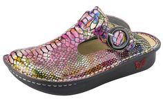 Classic Rainbow Snake Clog - http://www.alegriashoes.com/products/classic-rainbow-snake-clog.html