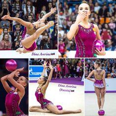 Dina AVERINA (Russia) ~ Ball collage @ Grand Prix Moscow 2017 Photographer Vk.com/Vika Popova_rg.