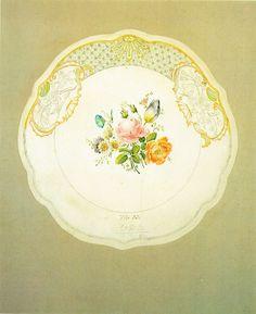 Kersting - Entwurf für einen Wandteller - 1818 - Georg Friedrich Kersting – Wikipedia